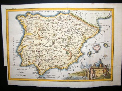 Ancient Spain C1750 Hand Col Antique Map | Albion Prints